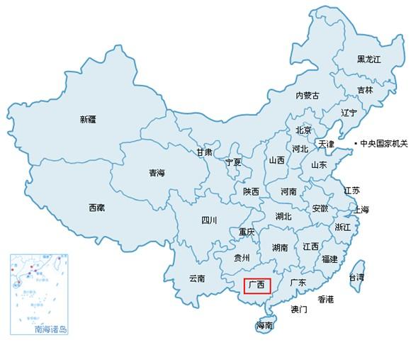 """进入后在地图列表中选择""""广西贺州钟山县"""""""